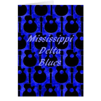 Azuis do delta de Mississippi Cartão Comemorativo