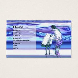 Azuis do músico - negócio cartão de visitas