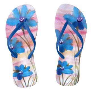 Azuis do verão chinelos