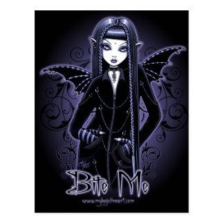 """Azuis góticos do """"Mina"""" mordem-me cartão da fada"""