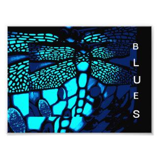 azuis impressão de foto