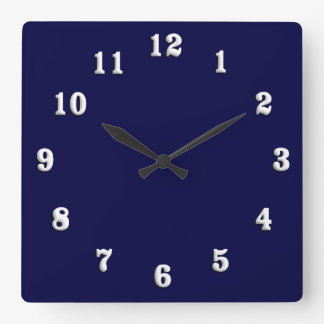Azuis marinhos contínuos relógios para paredes