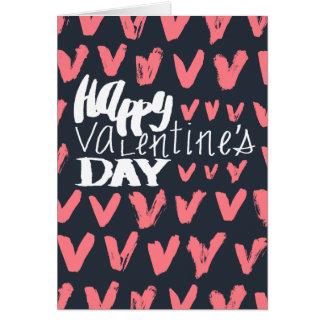 Azuis marinhos do feliz dia dos namorados e cartão comemorativo