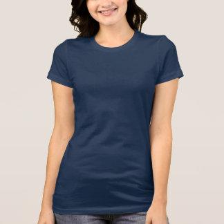 Azuis marinhos do t-shirt do jérsei do Bella das m