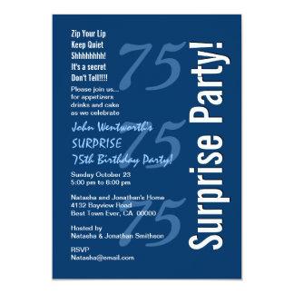 Azuis marinhos e branco modernos do aniversário da convite
