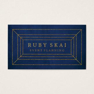 Azuis marinhos e cartão de visita do chique de