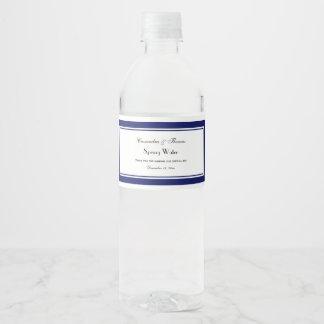 Azuis marinhos elegantes etiqueta quadro da