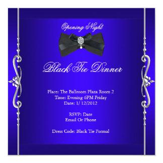 Azuis marinhos formais do traje de cerimónia da convite quadrado 13.35 x 13.35cm