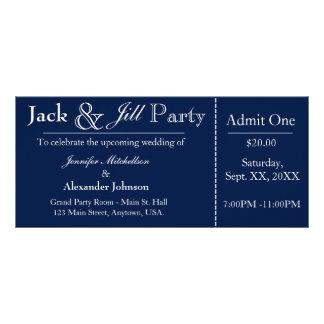 Azuis marinhos Jack e convite do bilhete do chá de