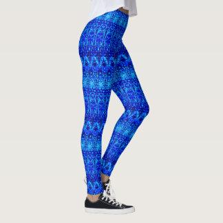 Azuis marinhos modelados leggings
