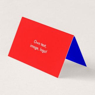 Azuis marinhos Vermelhos dobrados cartão de visita