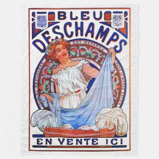 Azul 1897 de Alfons Mucha Deschamps Cobertor De Lã