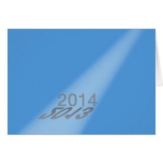 Azul 2013-2014 do projector do feliz ano novo cartão comemorativo