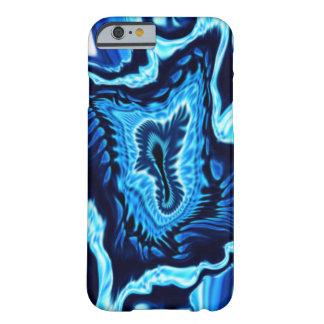 Azul abstrato caso modelado capa barely there para iPhone 6
