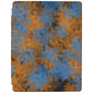 azul alaranjado do cobrir esperto do ipad capa smart para iPad