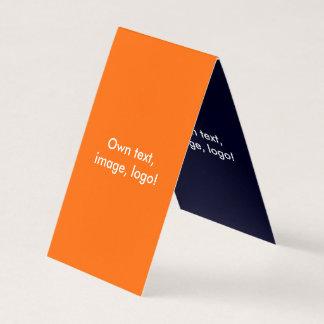 Azul Alaranjado-Escuro dobrado cartão de visita da