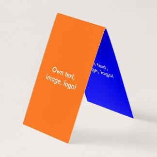 Azul Alaranjado-Real dobrado cartão de visita da