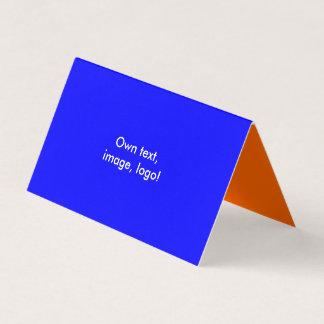 Azul-Alaranjado real dobrado cartão de visita da