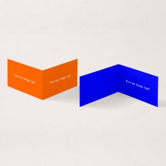 Azul Alaranjado-Real dobrado do livro H do cartão