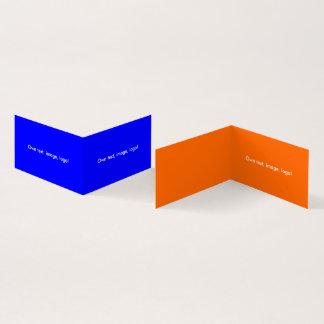 Azul-Alaranjado real dobrado do livro H do cartão