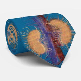 Azul artística original do design do rim do laço gravata