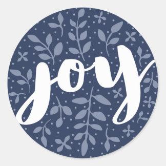 Azul astuto da etiqueta | do feriado da alegria
