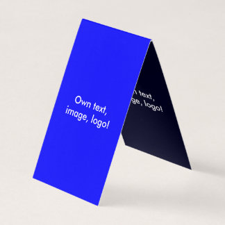 Azul Azul-Escuro real dobrado cartão de visita da