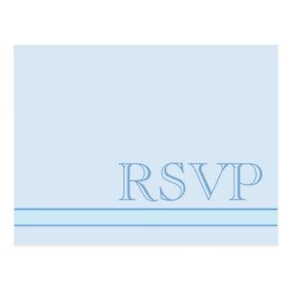 Azul básico RSVP Cartão Postal