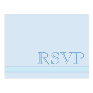 Azul básico simples mínimo de RSVP Cartão Postal
