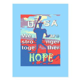 Azul bonito de 2016 EUA Hillary nós somos um Toget Cartão Postal