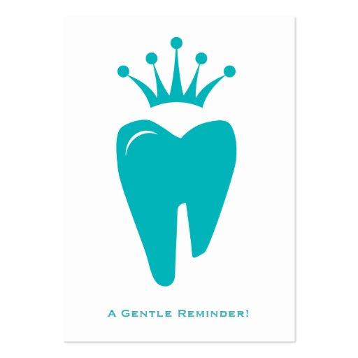 Azul bonito do logotipo do dente da coroa do cartã modelo cartão de visita
