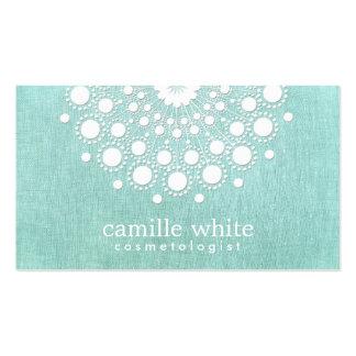 Azul branco bonito do Aqua da luz do Rosette da Cartão De Visita