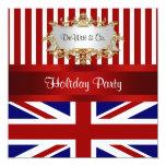 Azul branco vermelho do convite de festas