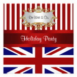 Azul branco vermelho do convite de festas BRITÂNIC