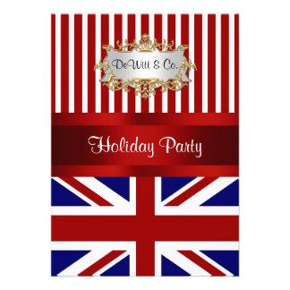 Azul branco vermelho V2 do convite de festas BRITÂ