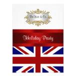 Azul branco vermelho V do convite de festas BRITÂN