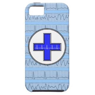 Azul cardíaco do caso do iPhone 5 do ritmo Capas Para iPhone 5
