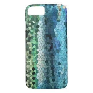 azul-cerceta mosaico-Blackberry-iphone da capa de