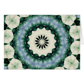 Azul Cerulean e mandala verde de Sacramento Cartão