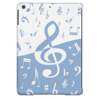 Azul-céu e branco da onda do Clef de triplo Capa Para iPad Air