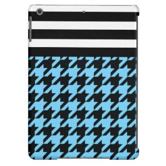 Azul-céu Houndstooth com listras 2 Capa Para iPad Air