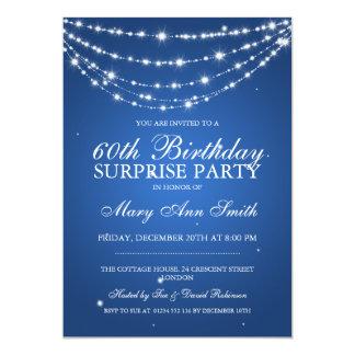 Azul Chain Sparkling da festa de aniversário da Convite Personalizado