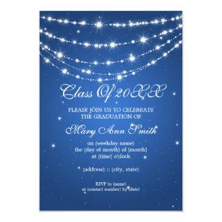 Azul Chain Sparkling da festa de formatura Convites Personalizado