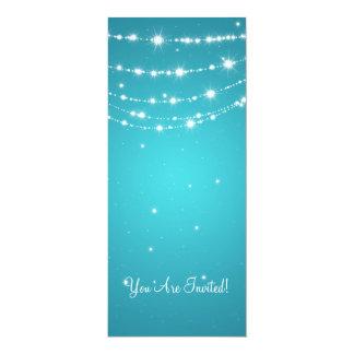 Azul Chain Sparkling do casamento elegante Convites Personalizados