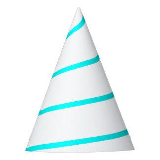 Azul ciano chapéu branco esboçado do partido do