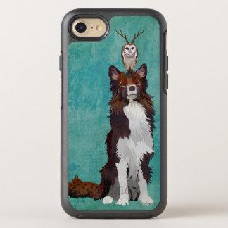 AZUL COLORIDO DA CORUJA DO COLLIE & DO ANTLER CAPA PARA iPhone 7 OtterBox SYMMETRY