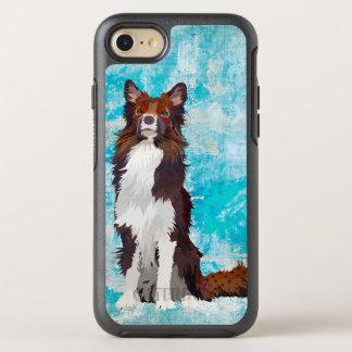 AZUL COLORIDO DO COLLIE CAPA PARA iPhone 7 OtterBox SYMMETRY