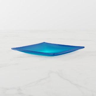 Azul com as bandejas na moda do Trinket de Centre>