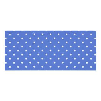 Azul com estrelas brancas Teste padrão Convites Personalizado