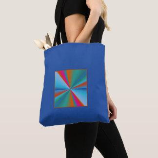 Azul com os bolsas >Patterned design da roda de